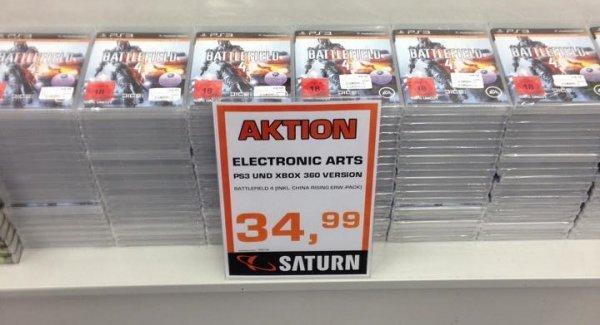 [LOKAL] Saturn Kassel - Battlefiled 4 inkl. China Rising für die Playstation 3 und XBOX 360 für jeweils 34,99€