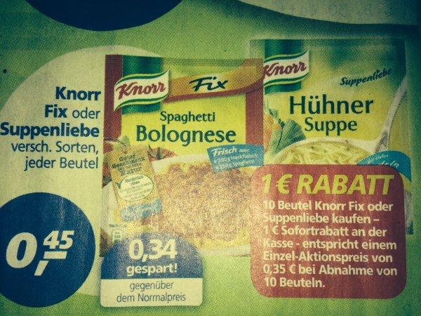[Real Offline] 10 x Knorr fix oder Suppenliebe