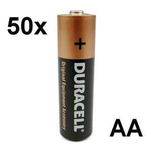 50x Duracell Original Equipment Accessory Alkaline Batterie 2 Jahre Garantie