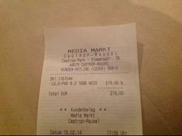 LG G Pad 8.3 16GB WiFi MM Castrop Rauxel für 219€
