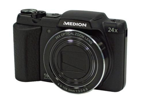 Digitalkamera Medion 24x Zoom, 16 Megapixel für 99,99€ @eBay (wie Aldi-Angebot)