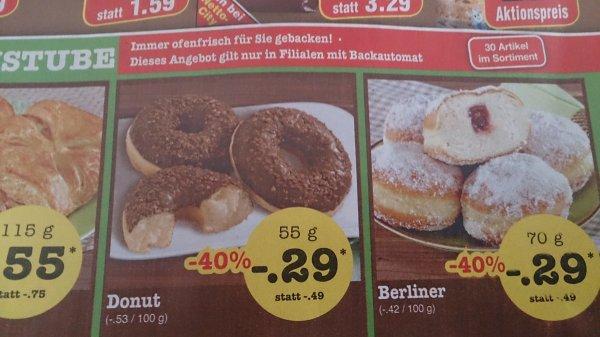 Netto Bundesweit Donuts(55g) und Berliner(70g) für jeweils 29 Cent!