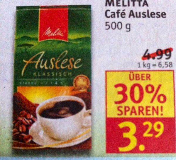 MELITTA Café Auslese 500g Packung über 30% SPAREN! ROSSMANN
