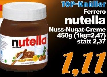 [LOKAL] Nutella 450g für 1,11 Euro bei Aktiv & Irma in/um Oldenburg