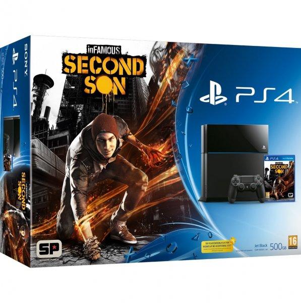 PlayStation 4 (500 GB) + InFamous : Second Son (Pre-order) für 441,34€ @Amazon.fr