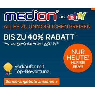 Medion-Special bei Ebay (nur heute) - Notebooks, Navis, Handys, PC, Sat-Receiver