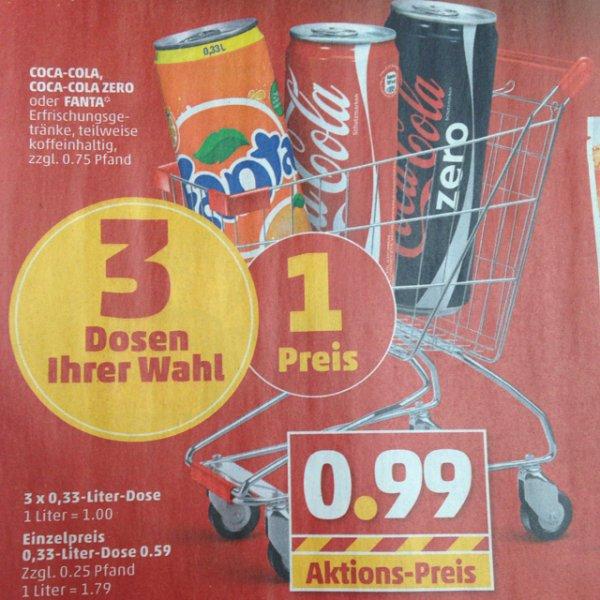 Penny Coca Cola 3 Dosen für 0,99cent