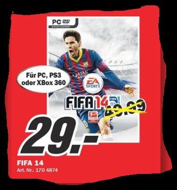 Lokal Media Markt Frankfurt NWZ: FIFA 14 für PS3 / XBOX360