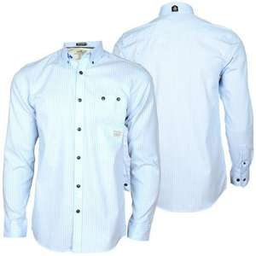 Jack & Jones Pack Shirt L/s Hemd Hellblau/blau, Sporty Tight Fit L/s grau