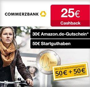 105€ Commerzbank-Bonus: Girokonto für Neukunden (Kostenlos bei mtl. Geldeingang ab 1200 €)