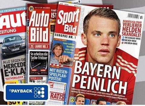 [Payback] Auto Bild - Auto Zeitung - Sport Bild