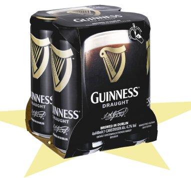 Guinness 4x0,44l für 4,99 bei Penny