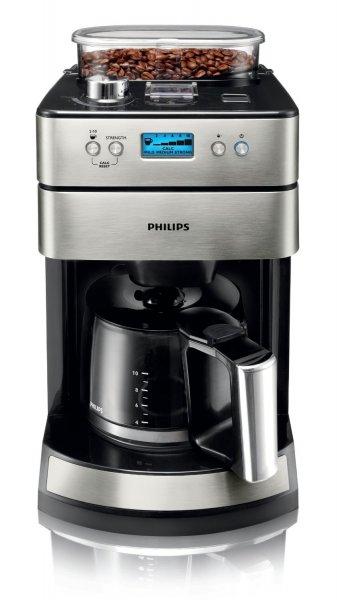 Philips HD7751/00 Kaffeemaschine (Mahl- und Brühsystem aus Edelstahl) Edelstahl/schwarz
