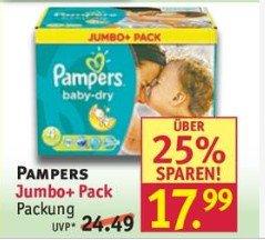 Pampers Jumbo für 12,19 € / 13,99 €