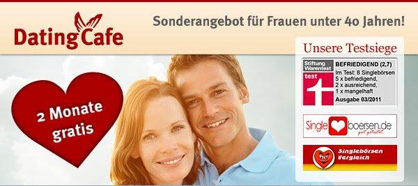 Testsieger-Singlebörse DatingCafe 2 Monate Premium geschenkt.