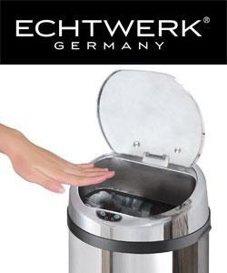 Echtwerk Design Abfalleimer Mülleimer mit Sensor 42l