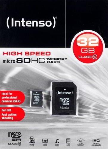 Intenso 32GB Micro SDHC Class 10 inkl. Adapter (16,90 €) [Ebay.de]