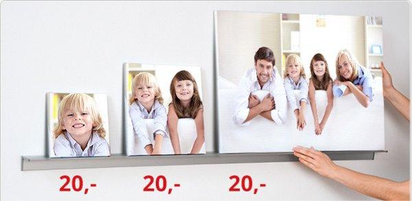 PosterXXL Leinwand 75x50cm, 340g/m², 2cm Holzrahmen (20€ statt 49€)