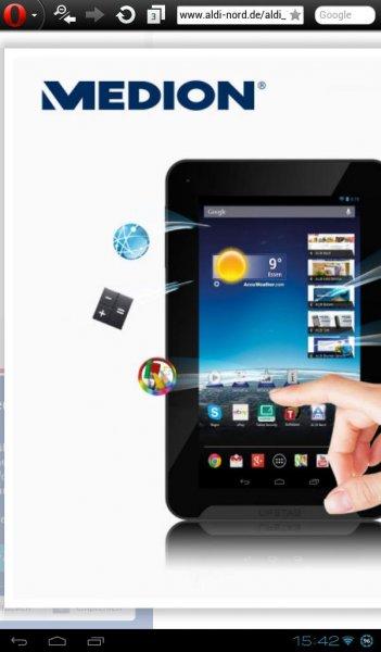 Aldi Süd & Nord , MEDION® LIFETAB® E7316 , 7 Zoll Quad Core Tablet für Einsteiger ab 27.02.