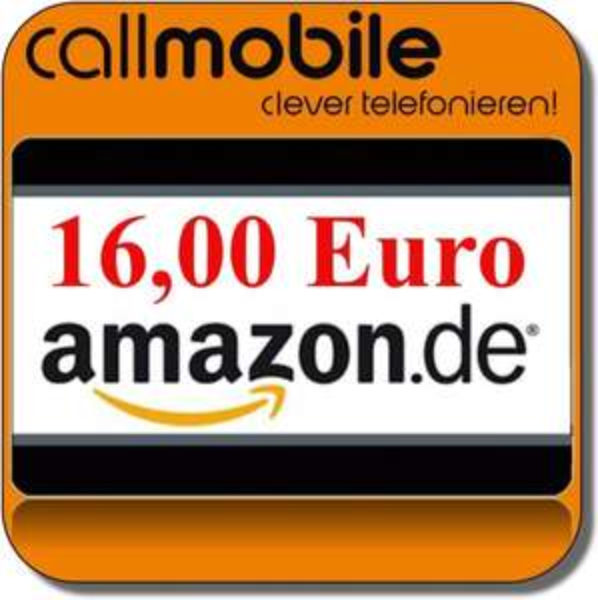 16€ Amazon Gutschein + 10€ Guthaben - Callmobile Prepaid SimKarte für 2,95 +  22,05 € Gewinn + 10 Freiminuten pro Monat