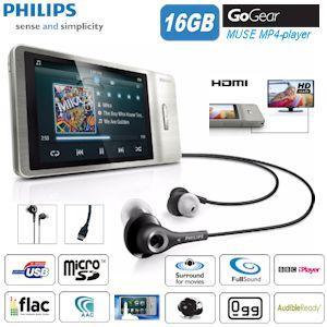Philips GoGear Muse 16GB MP4-Player mit Touchscreen  65,90 €- Vergleichspreis Idealo 175€