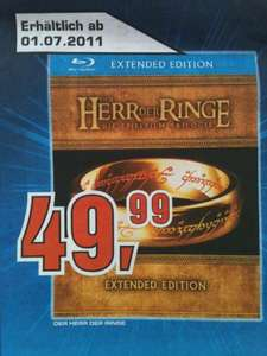 Herr der Ringe Trilogie BluRay (Extended Edition) SATURN