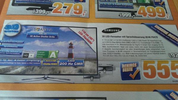 [Lokal Wilhelmshaven?] Samsung UE46F6470 Full HD 3D @ Expert