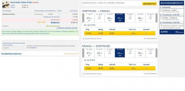 [Reise] 3 Tage (2 Nächte) Krakau inklusive Flug mit Handgepäck und 3* Hotel ab DTM