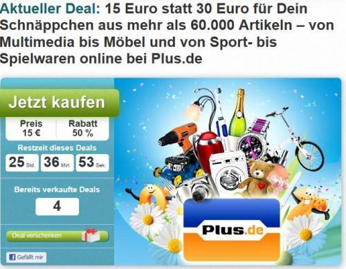 DailyDeal Plus.de 15€ statt 30€ Facebook Deal