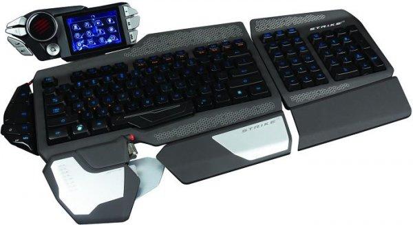 Mad Catz S.T.R.I.K.E. 7 Gaming Tastatur (Deutsch, Touchscreen, USB) Schwarz für 199,-