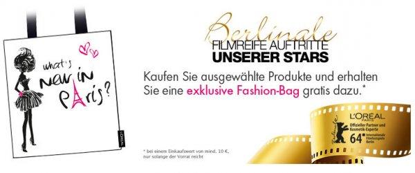 [Amazon] Gratis L'Oréal Fashion-Bag beim Kauf von Produkten im Wert von 10€