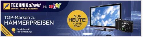 ebay - neue Landingpage mit Technikschnäppchen - verschiedene Produkte
