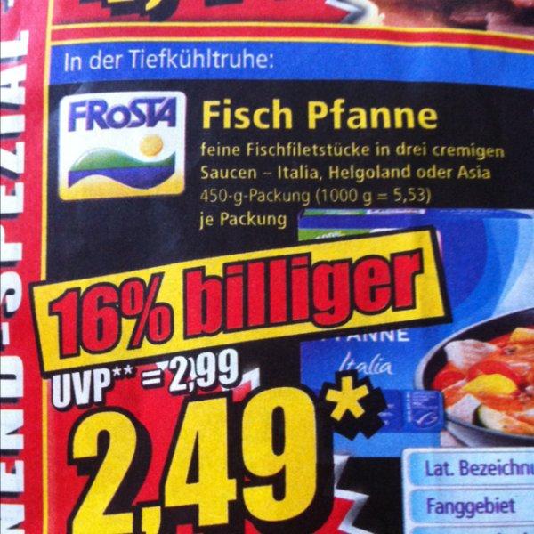 Frosta Fisch Pfanne 2,49€ - 1€ coupies/barcoo effektiv 1,49€ ( lokal ) norma bis 22.02