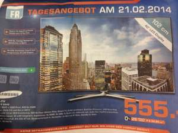 Samsung UE40F6640 für 555€ nur heute Lokal Hamburg
