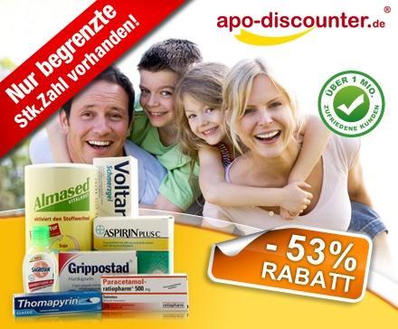 Dailydeal: 7,50 Euro statt 16 Euro für Marken-Medikamente von Aspirin bis Voltaren