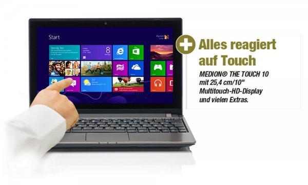 """Netbook MEDION AKOYA E1318T MD 99240 10""""/25,4cm 500GB Multitouch/Win 8/2gb ram/500 Festplatte 199€!!!  B-Ware"""