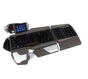Mad Catz S.T.R.I.K.E. 7 Gaming Tastatur (Deutsch, Touchscreen, USB) Schwarz