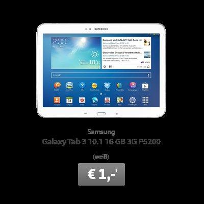 Samsung Galaxy Tab 3 10.1 WiFi+3G für 286,78€ (statt 329€) + gratis 5GB o2 Surf-Flat