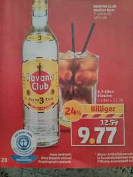 Havana Club 3 Jahre für 9,77€ [Penny]