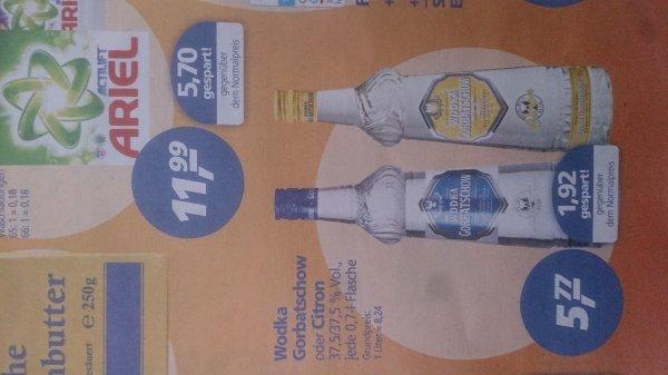 [Lokal? Real Baden] 0,7 l Flasche Wodka Gorbatschow für 5,77