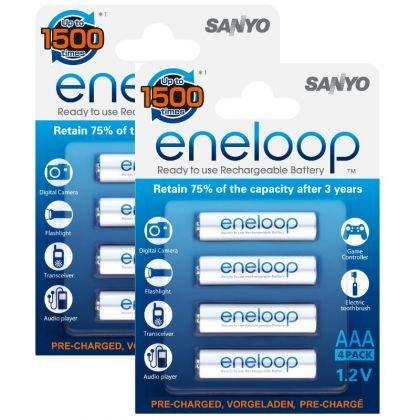 8x Sanyo Eneloop AAA  Akkus+ 2x BOX neue Version HR-4UTGA  bei Ebay 12.99€ mit Versand