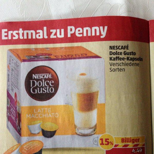 Nescafé Dolce Gusto Kapseln bei Penny