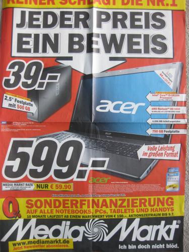 Media Markt Multimedia-Prospekt gültig ab 01.07.11 - PC, Notebook, Tablett, Smartphones, Games, Filme, Zubehör