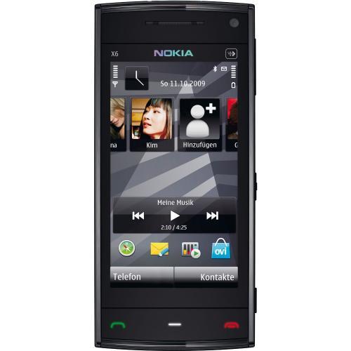 Nokia X6 Smartphone (8GB interner Speicher, Touchscreen) schwarz @ WHD Amazon