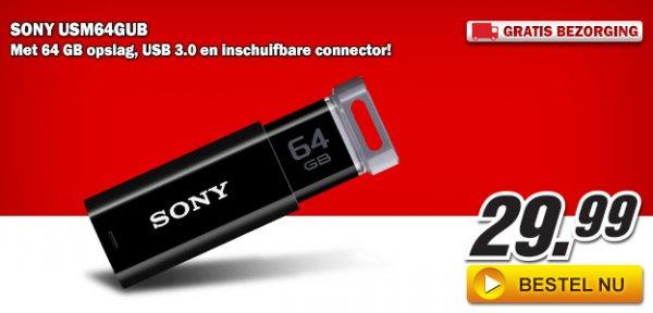 [LOKAL, MEDIAMARKT NL] Für Grenzgänger: SONY USM64GUB USB-3.0-Stick mit 64GB
