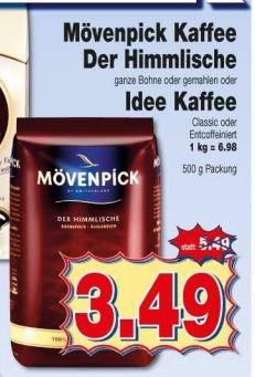 """[Kaufpark & Rewe Dortmund] Mövenpick Kaffee """"Der Himmlische"""" Bohnen oder gemahlen"""
