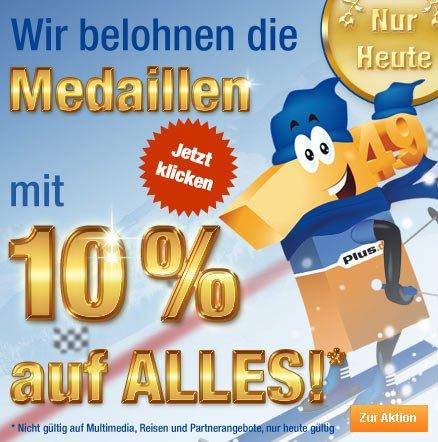 10% Rabatt auf das gesamte Sortiment bei Plus.de