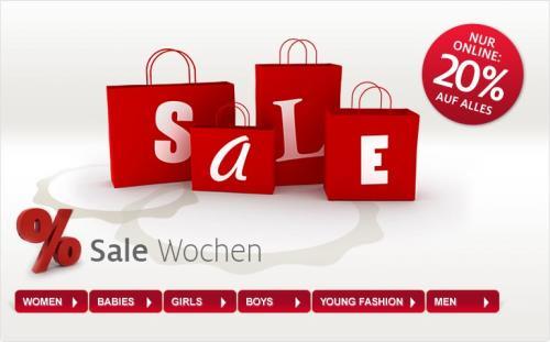 C und A - online 20% - auch auf den Sale