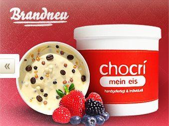Eis selbst mischen bei Chocri - 11 Euro sparen