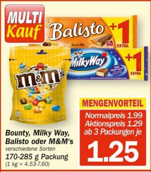 Hit Markt -  Multi Kauf -  zb. M&M oder Bounty für je 1.25€